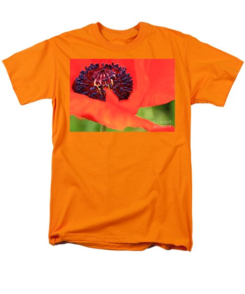 Red Poppy Men's T-Shirt  (Regular Fit) by Linda Bianic