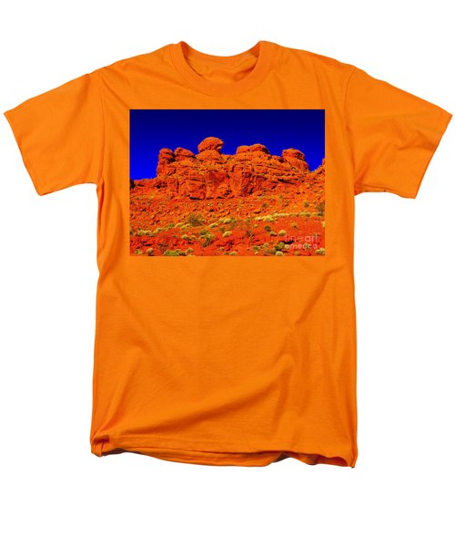 Men's T-Shirt  (Regular Fit) featuring the photograph Rocky Outcrop by Mark Blauhoefer