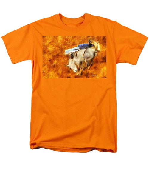 Men's T-Shirt  (Regular Fit) featuring the painting Eight-second Ride by Greg Collins