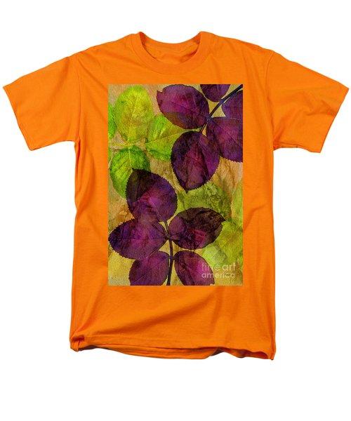 Rose Clippings Mural Wall Men's T-Shirt  (Regular Fit) by Claudia Ellis