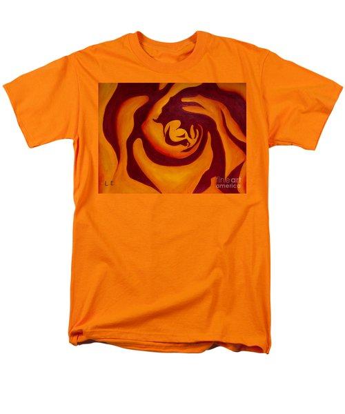 Rose Whirl 2 Men's T-Shirt  (Regular Fit) by Lana Enderle