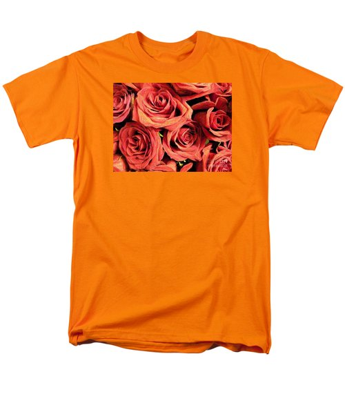 Roses For Your Wall  Men's T-Shirt  (Regular Fit) by Joseph Baril