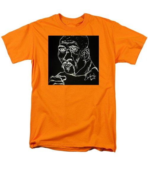 Men's T-Shirt  (Regular Fit) featuring the drawing Rubin Hurricane Carter by Rand Swift
