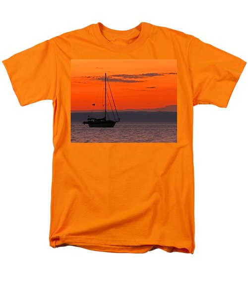 Sailboat At Sunset Men's T-Shirt  (Regular Fit) by Marcia Socolik