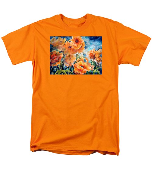 September Orange Poppies            Men's T-Shirt  (Regular Fit) by Kathy Braud