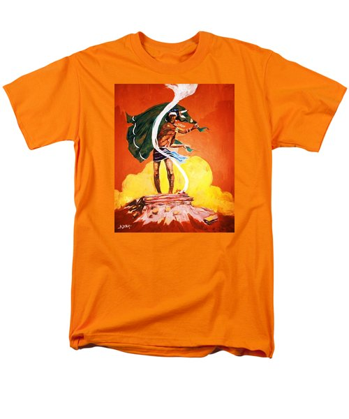 Men's T-Shirt  (Regular Fit) featuring the painting Signal From The Mesa by Al Brown