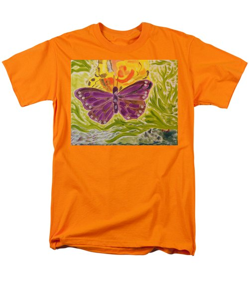 Men's T-Shirt  (Regular Fit) featuring the painting Soft Flutters by Meryl Goudey