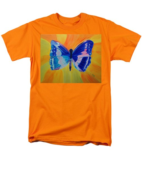 Men's T-Shirt  (Regular Fit) featuring the painting Spreading My Wings by Meryl Goudey