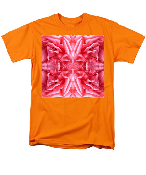 Men's T-Shirt  (Regular Fit) featuring the photograph Square Petals Abstract Art Photo by Marianne Dow