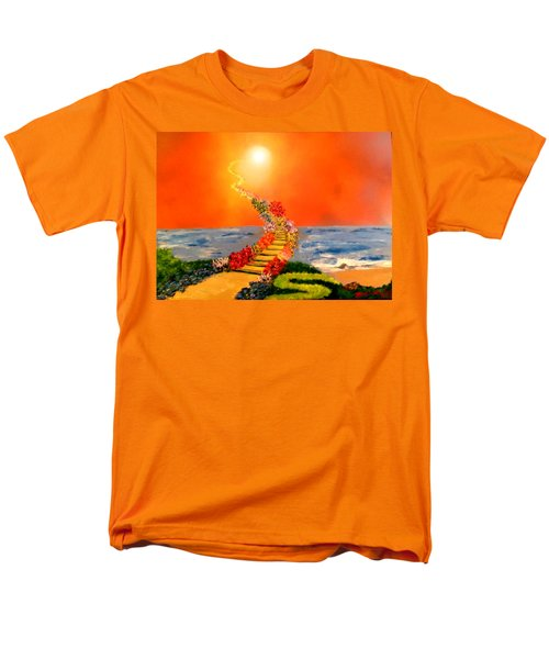 Men's T-Shirt  (Regular Fit) featuring the painting Stairway To Heaven by Michael Rucker