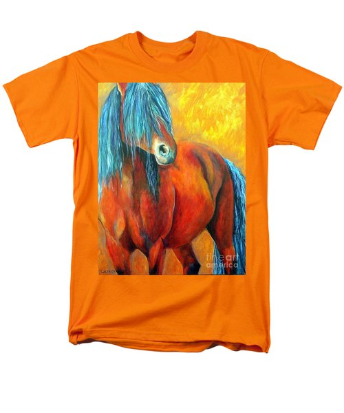 Stallions Concerto  Men's T-Shirt  (Regular Fit) by Alison Caltrider
