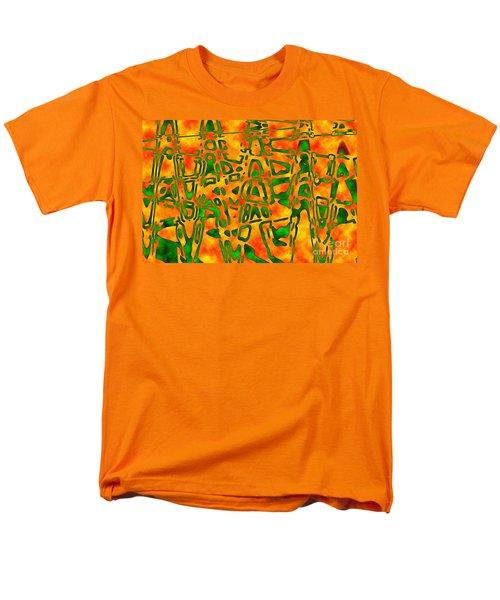 Strange Hieroglyphs Men's T-Shirt  (Regular Fit) by Mark Blauhoefer