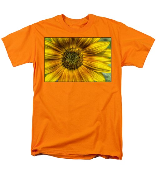 Sunflower In Oil Paint Men's T-Shirt  (Regular Fit)