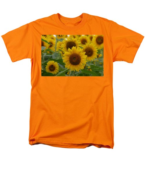 Sunflowers At The Farm Men's T-Shirt  (Regular Fit) by Denyse Duhaime