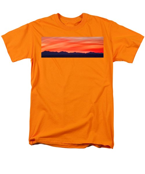 Men's T-Shirt  (Regular Fit) featuring the photograph Sunset Algodones Dunes by Hugh Smith