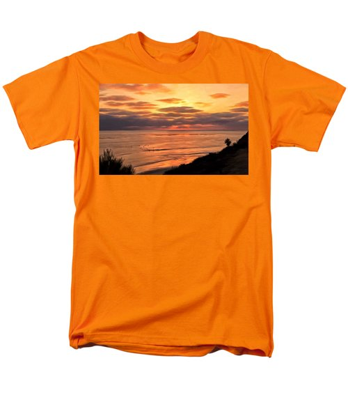 Sunset At Swami's Encinitas Men's T-Shirt  (Regular Fit) by Michael Pickett