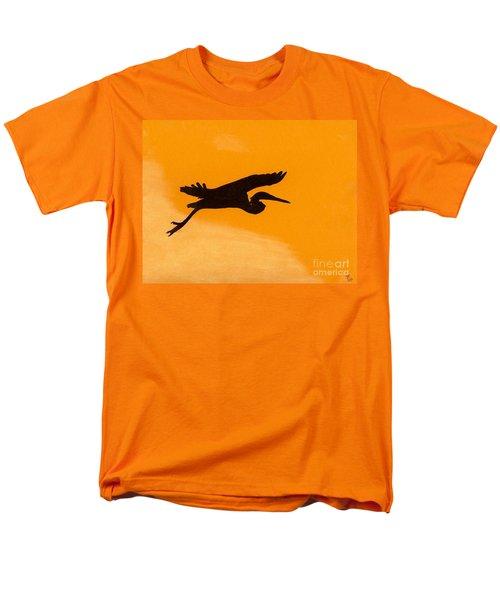 Men's T-Shirt  (Regular Fit) featuring the drawing Sunset Flight by D Hackett