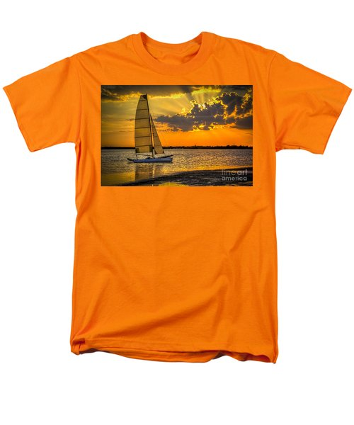 Sunset Sail Men's T-Shirt  (Regular Fit) by Marvin Spates