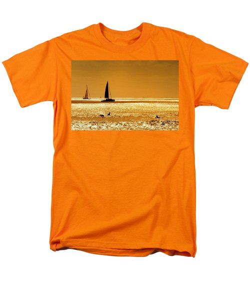 Surfers And Sailboats Men's T-Shirt  (Regular Fit) by Kristine Merc