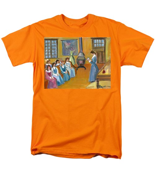 Men's T-Shirt  (Regular Fit) featuring the painting Susan B. Anthony Teaching In Canajoharie by Betty Pieper