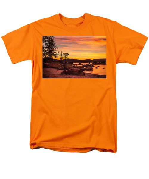Men's T-Shirt  (Regular Fit) featuring the photograph Tahoe Golden Sunset by Steven Bateson