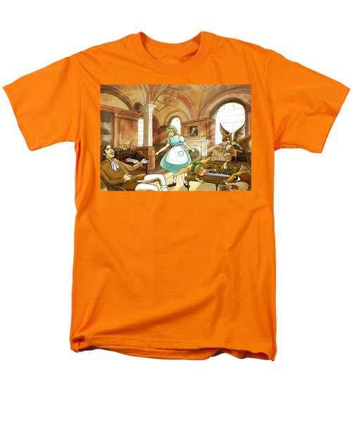 Men's T-Shirt  (Regular Fit) featuring the painting Tammy Meets Mr. Scott by Reynold Jay