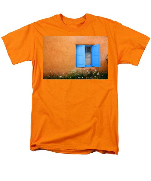 Men's T-Shirt  (Regular Fit) featuring the photograph Taos Window V by Lanita Williams