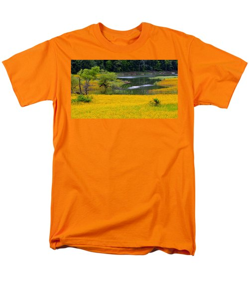 Tennessee Black-eyed Susan Field Men's T-Shirt  (Regular Fit) by Kathy Barney
