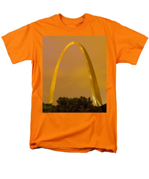 The Arch In The Glow Of St Louis City Lights At Night Men's T-Shirt  (Regular Fit) by Garry McMichael