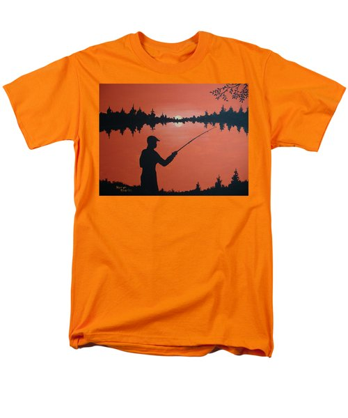 Men's T-Shirt  (Regular Fit) featuring the painting The Golden Hour by Norm Starks