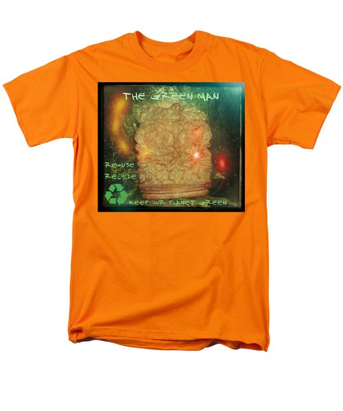 Men's T-Shirt  (Regular Fit) featuring the photograph The Green Man - Recycle by Absinthe Art By Michelle LeAnn Scott