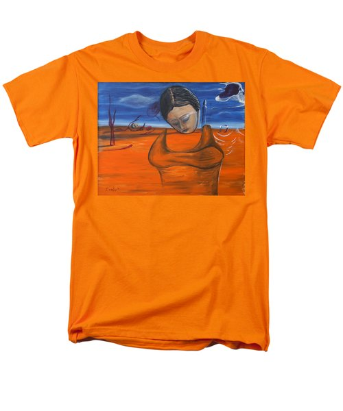 Men's T-Shirt  (Regular Fit) featuring the painting The Saharan Insomniac by Christophe Ennis