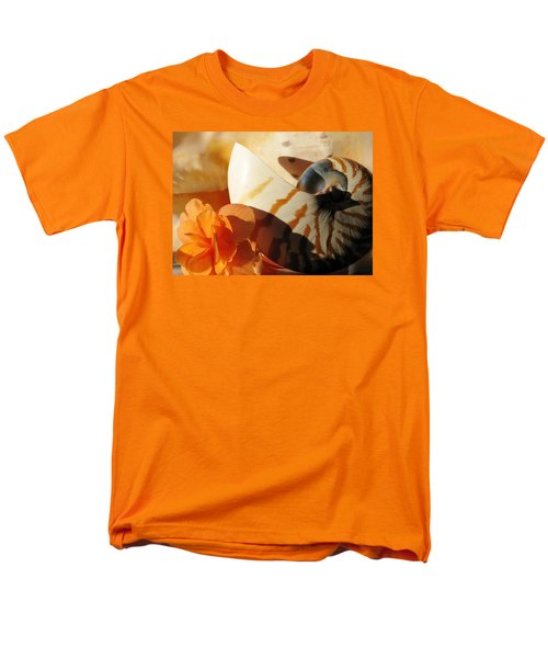 Men's T-Shirt  (Regular Fit) featuring the photograph The Secret Of The Sea by Angela Davies