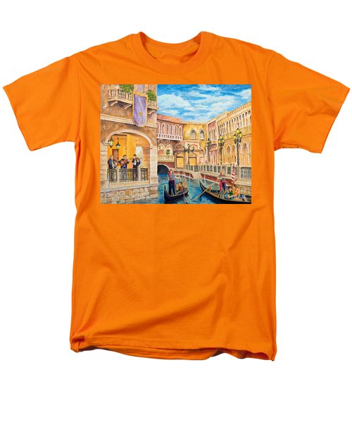 Men's T-Shirt  (Regular Fit) featuring the painting The Venetian Canal  by Vicki  Housel