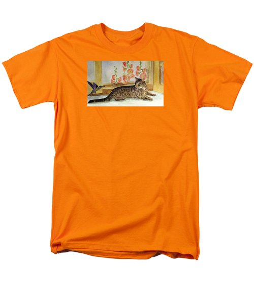 Men's T-Shirt  (Regular Fit) featuring the painting The Visitor by Angela Davies