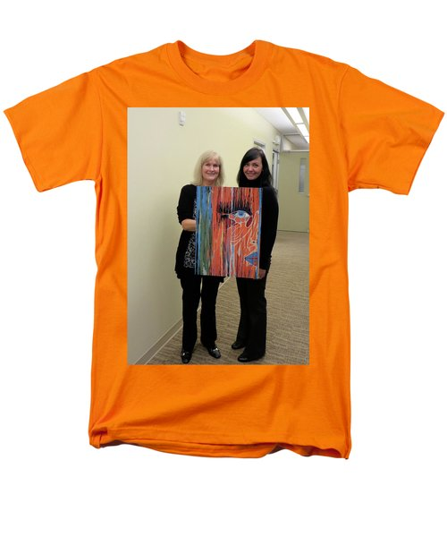 Men's T-Shirt  (Regular Fit) featuring the painting The Way Eye See It by Kathleen Sartoris