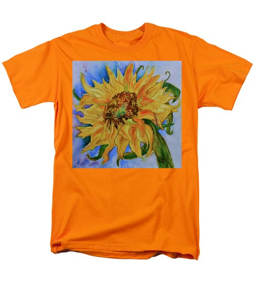 Men's T-Shirt  (Regular Fit) featuring the painting This Here Sunflower by Beverley Harper Tinsley