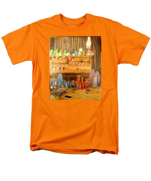 Men's T-Shirt  (Regular Fit) featuring the drawing Tool Chest With Thimbles by Joseph Hawkins