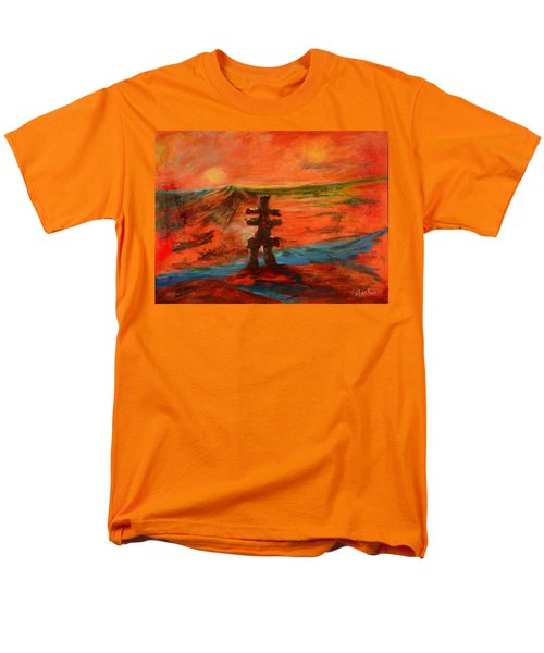 Top Of The World Men's T-Shirt  (Regular Fit) by Sher Nasser