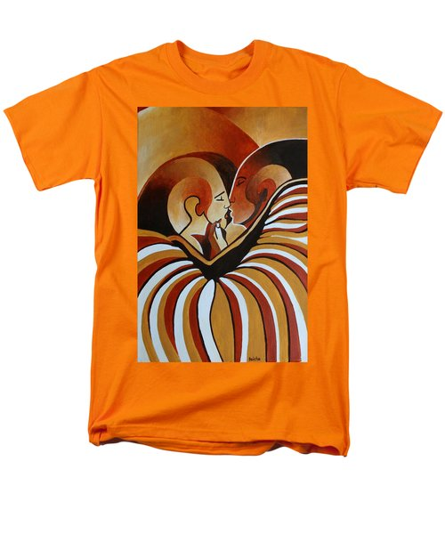 Men's T-Shirt  (Regular Fit) featuring the painting Touched By Africa I by Tracey Harrington-Simpson