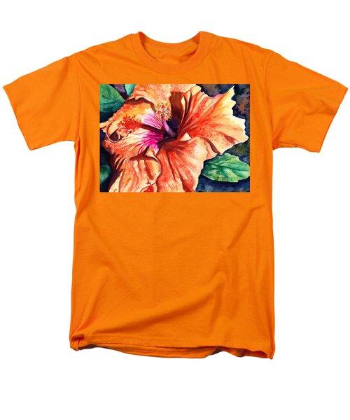 Tropical Hibiscus Men's T-Shirt  (Regular Fit) by Marionette Taboniar