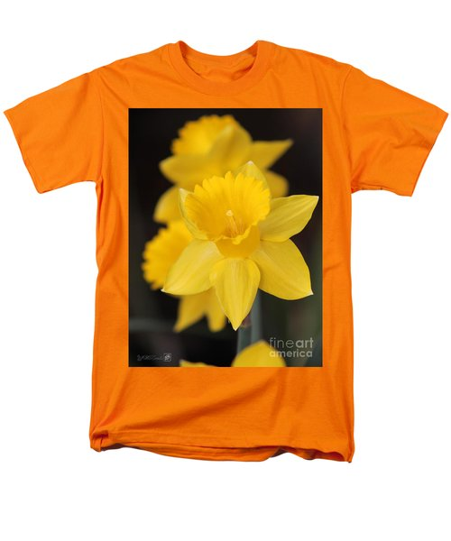 Trumpet Daffodil Named Exception Men's T-Shirt  (Regular Fit) by J McCombie