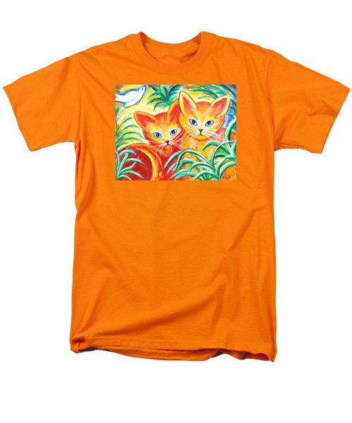 Men's T-Shirt  (Regular Fit) featuring the painting Two Cats by Anya Heller