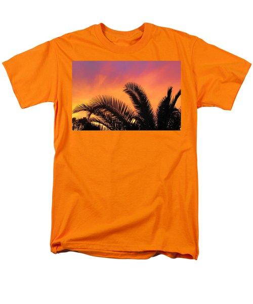 Winter Sunset Men's T-Shirt  (Regular Fit) by Tammy Espino
