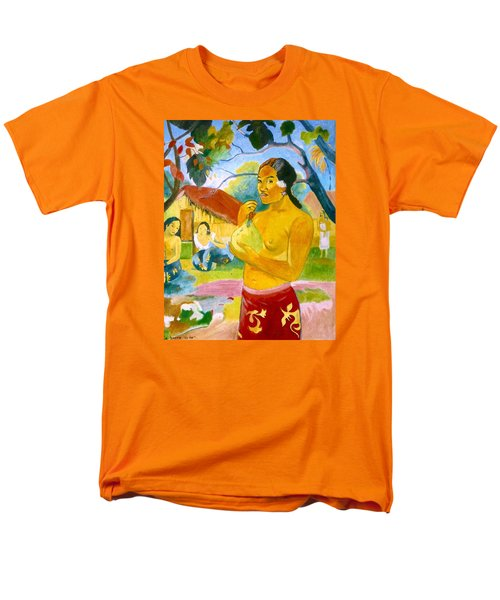 Woman Holding Fruit Men's T-Shirt  (Regular Fit) by Henryk Gorecki