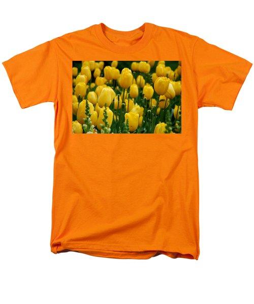 Yellow Tulip Sea Men's T-Shirt  (Regular Fit) by Jennifer Ancker