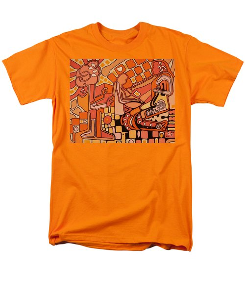 Men's T-Shirt  (Regular Fit) featuring the painting You Me And The Machine by Barbara St Jean