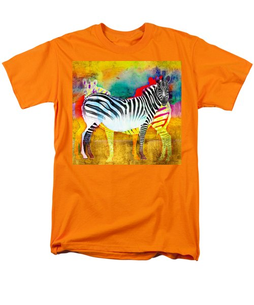 Zebra Colors Of Africa Men's T-Shirt  (Regular Fit) by Barbara Chichester