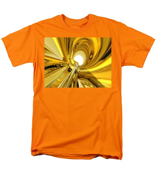 Men's T-Shirt  (Regular Fit) featuring the digital art Abstract Gold Rings by Phil Perkins
