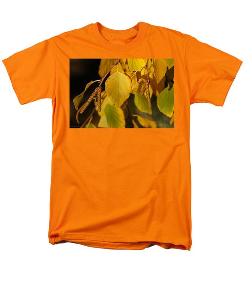 Men's T-Shirt  (Regular Fit) featuring the photograph Autumn Birch In Southern Oregon by Mick Anderson